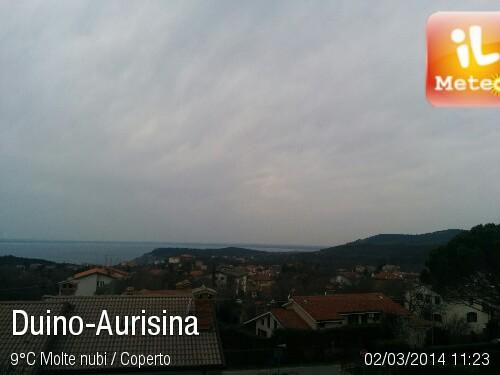 Foto meteo - Duino-Aurisina - Duino-Aurisina ore 11:23 ...