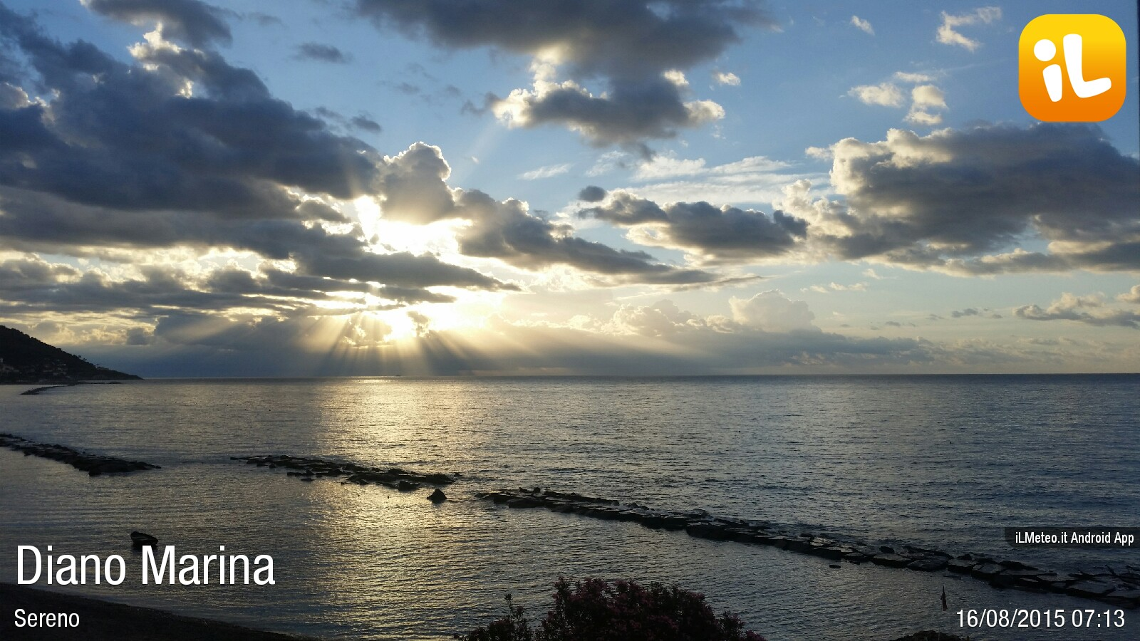 Foto meteo diano marina diano marina ore 7 15 for Bagni arcobaleno sottomarina webcam