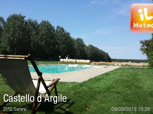 Foto meteo castello d 39 argile castello d 39 argile ore 15 28 - Piscina a castello d argile ...