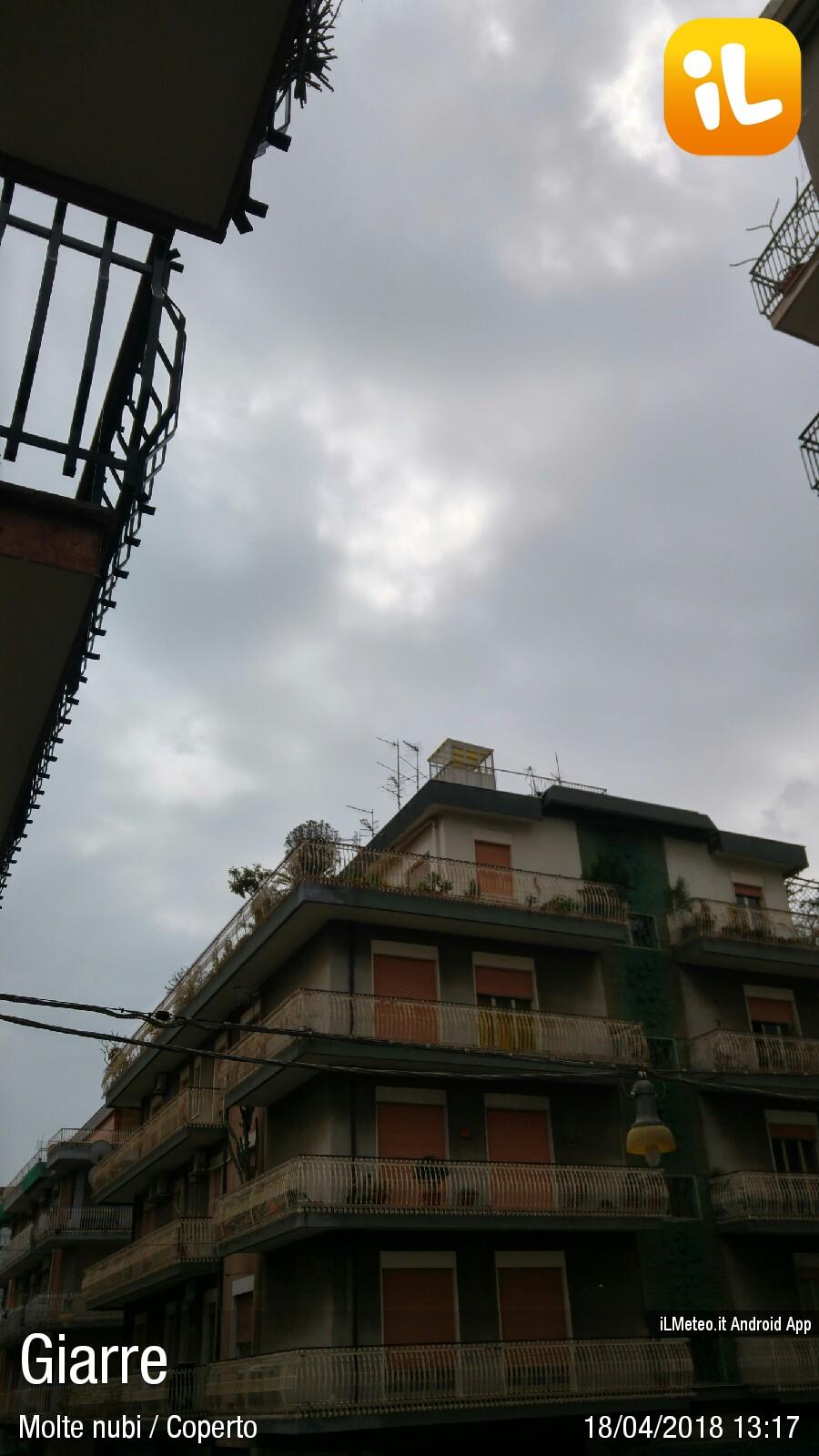 Foto Meteo Giarre Giarre Ore 1317 Il Meteo Ilmeteoit