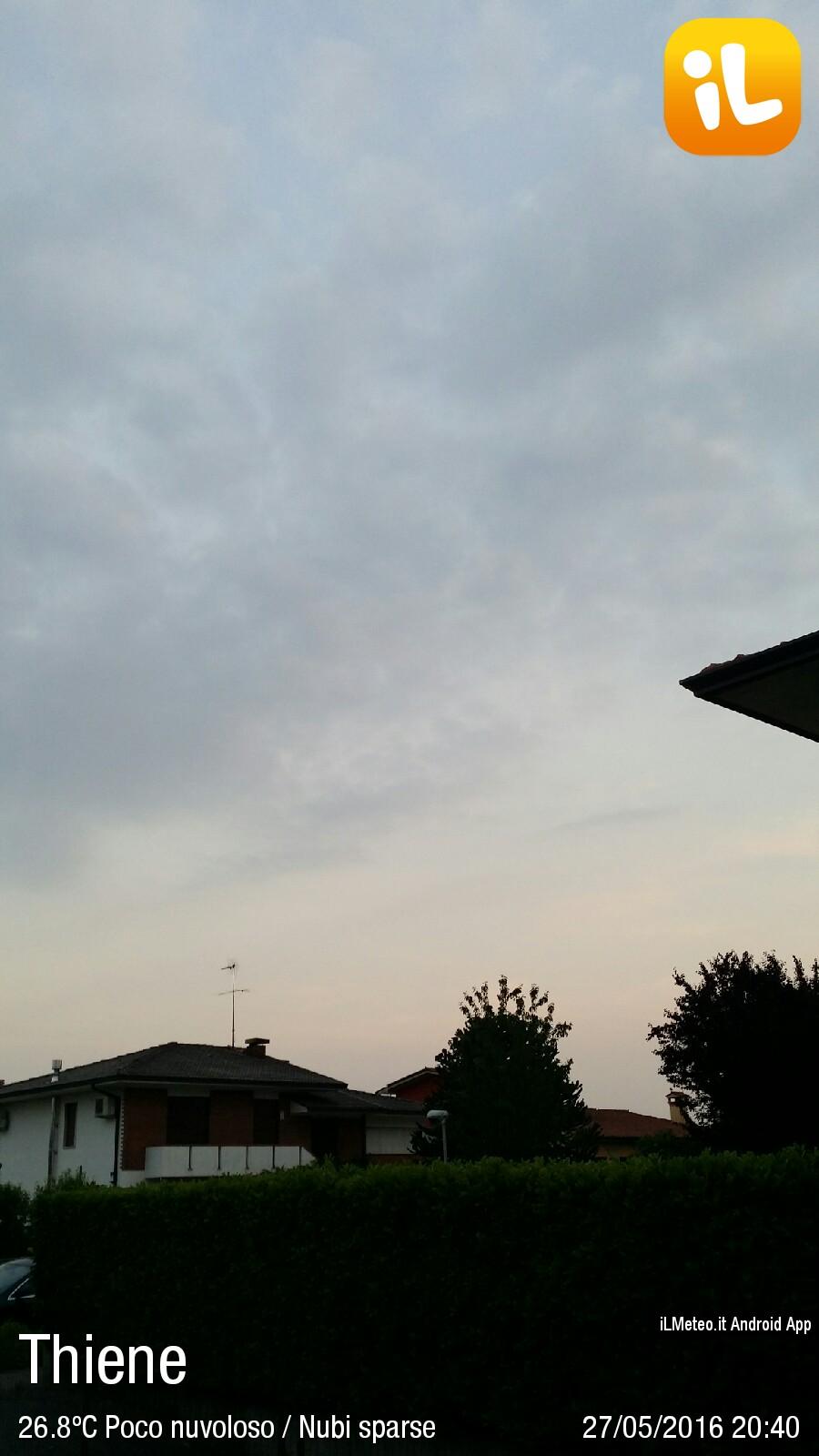 Foto meteo thiene thiene ore 20 40 for C b arredamenti thiene