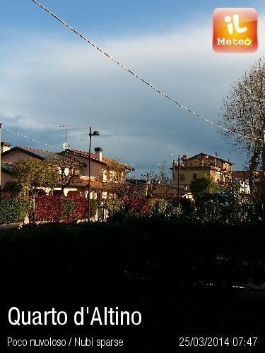 Foto meteo quarto d 39 altino quarto d 39 altino ore 7 47 for Visma arredo quarto d altino
