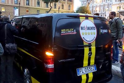 M5S, Grillo e Di Maio al Viminale presentano il nuovo simbolo
